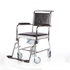 כיסא רחצה ושירותים עם גלגלים